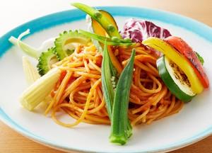 夏野菜のパスタ